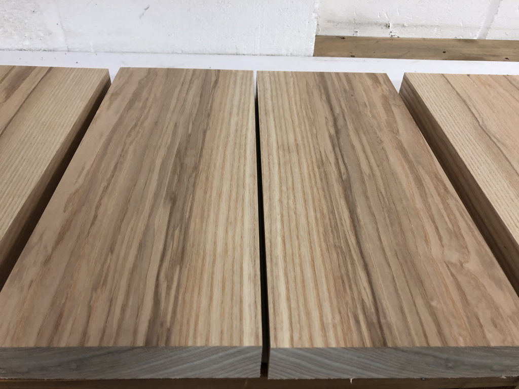 Selecting bookmatched ash wood for custom guitar bodies