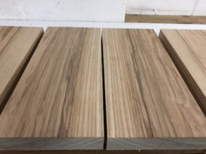 Selecting bookmatched ash wood for custom shop guitar bodies
