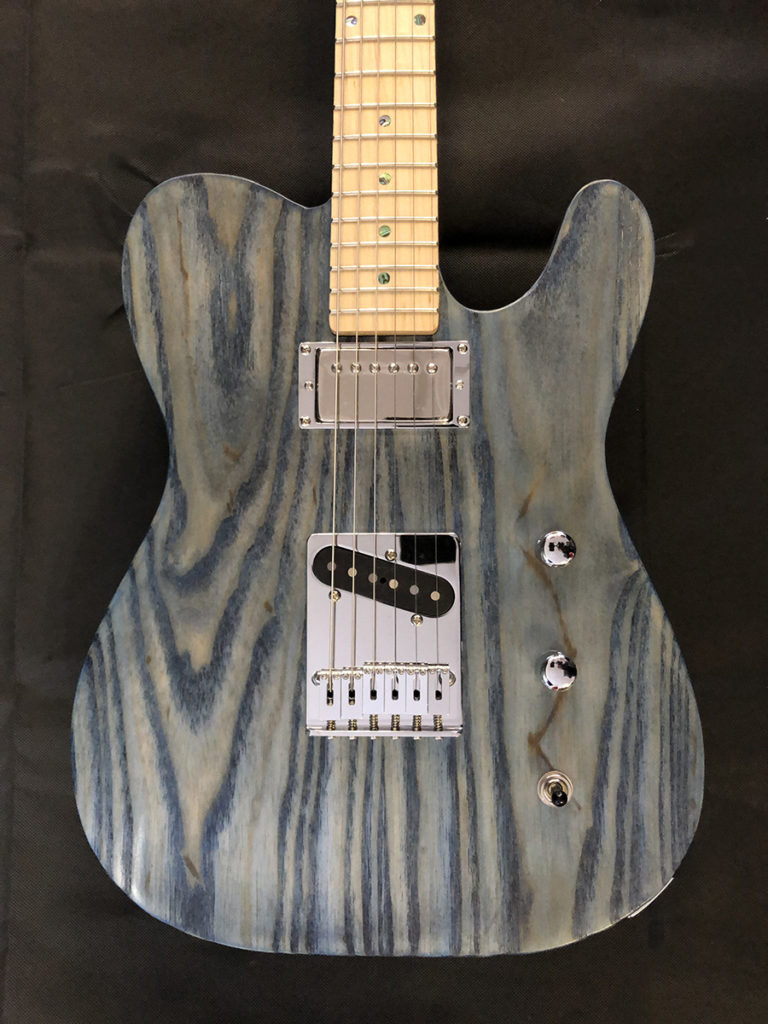 Stain ash guitar