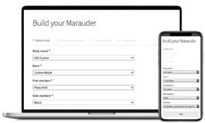 Build your marauder custom shop guitar