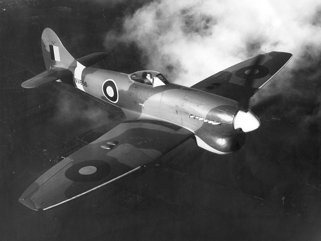 A Royal Air Force Hawker Tempest V Series II