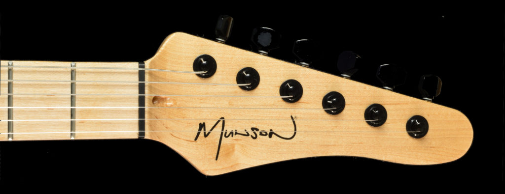 Munson custom shop guitar headstock